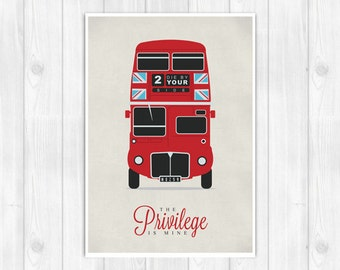 20% OFF!! The Smiths print - Double Decker Bus - There is a light that never goes out - Music poster Music print Lyrics Print