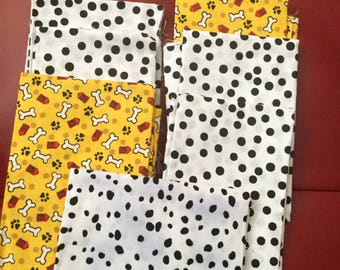 7  Novelty Print Fabric Fat Quarter 18 x 22 Inches