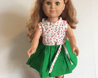 Doll dress with matching hair bow