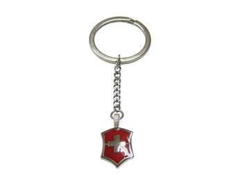 Red Cross Design Keychain