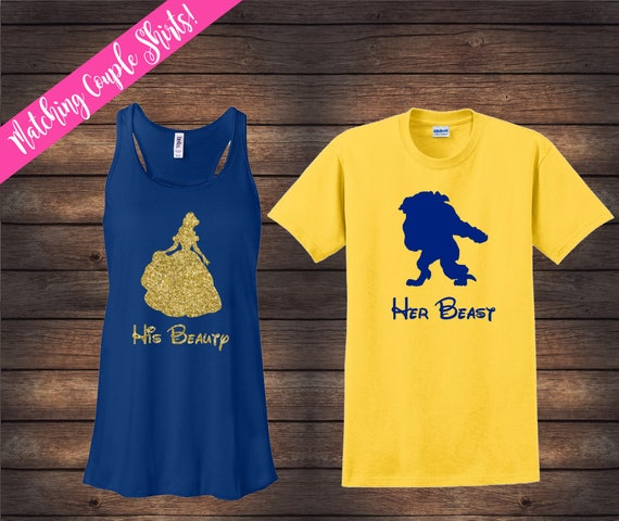 His Beauty Her Beast Set Beauty And Beast Shirts Disney