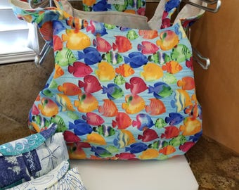 School Of Fish Grocery Tote