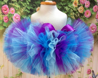 Sewn Tutu, Purple Blue Tutu, Turqouise Tutu, Photoprop, Baby Tutu, Birthday Tutu, Toddler Tutu, Cakesmash Tutu, Dance Tutu, Sewn Tulle Skirt
