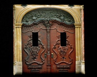 Home Lighting Double Switchplate Cover - Ornate Doors in Poland