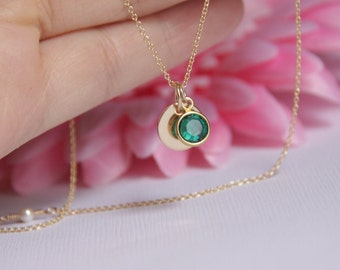 Personalized necklace initial birthstone necklace birthstone personalized necklace initial birthstone necklace birthstone initial necklace aloadofball Image collections