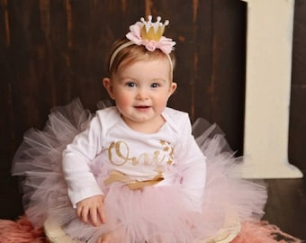 Twinkle Twinkle Little Star First Birthday Outfit Girl | 1st Birthday Outfit | Baby Girl | Pink and Gold | Cake Smash Outfit | Photo Prop