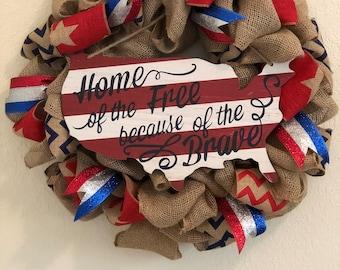 USA Wreath