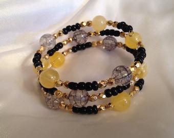Bohemian Bracelet, Summer Bracelet, Memory Wire Bracelet