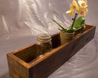 Rustic Wooden Box - Centerpiece