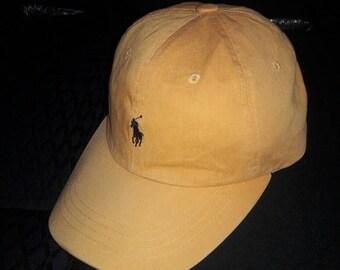 Sale!! Vintage POLO by Ralph Lauren cap hat visor Orange Color Made USA