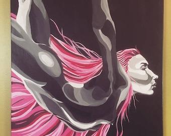 Acrylic Figure Painting Woman