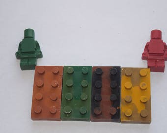 Block Crayon Set with men, Building Block Crayon Set, Unique Crayon Set, Gifts Under 10, Party Favors