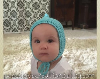 Crochet Pixie Baby Hat~Ready to Ship~FREE SHIPPING