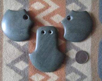 Grey slate pendants