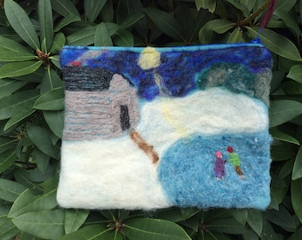 Small, wool felted bag.