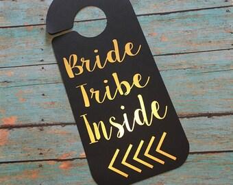 Bachelorette Party Door Hanger, Bride Tribe Door Hanger, Bachelorette Party Decorations, Wedding Door, Bridal Door