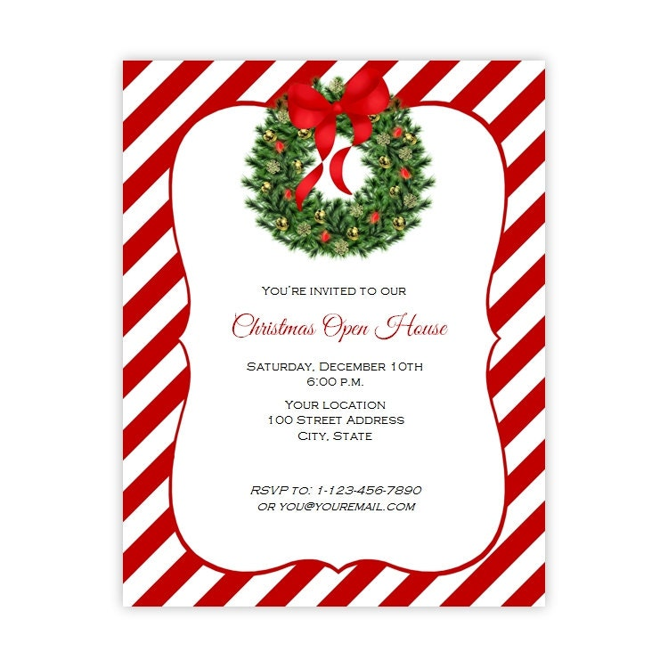 Christmas Invitation Flyer Holiday Party Flyer 8.5 x 11