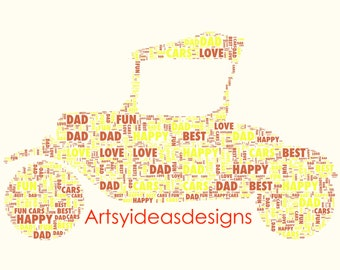 Fathers Day/Personalised Word Art/Gift Keepsake/ Dad/Print or Print and Frame //DIGITAL IMAGE .jpg high res for personal printing