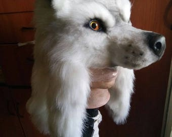 Made to order: cosplay Hanzo okami wolf hat from overwatch