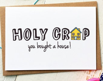 New Home Card - New House Card - Moving Card - Housewarming Card - Funny Cards - Funny Greeting Cards - Funny Friend Card - Best Friend Card
