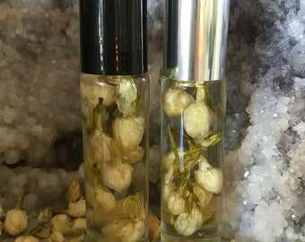 NEW! Organic Essential Oil Perfume...VIVACIOUS/Beautiful Roll-On Glass Bottle/Natural Perfume/Organic Essential Oils/Gift/Esthetician Made
