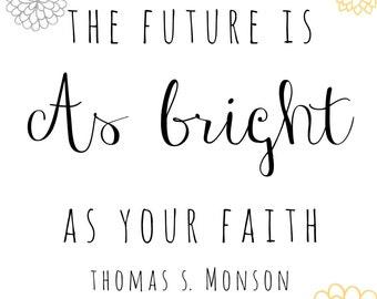bright future print