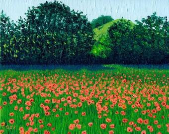 Giclee print, Field of Poppies II, 8 x 10 in.