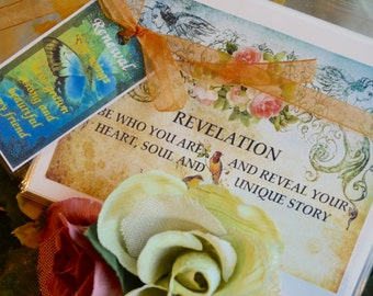 REVELATION GREeTING CARD SeT art therapy collage inspirational hope recovery abuse survivors journey