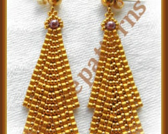 Beading Tutorial - Elegance earring - Ladder stitch