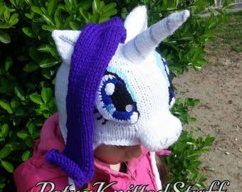 Rarity inspired Hat , My Little Pony Hat, Rarity Costume, MLP Costume, MLP Hat, Halloween hat, Halloween Costume, MLP Rarity Hat, Pony Hat