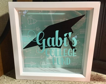 College Fund ~ Travel Savings ~ Shadow Box Fund Bank ~ Shadow Bank ~ Piggy Bank ~ Spring Break, Adventure, Custom to Your Special Idea