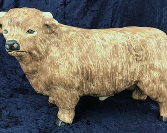 Extremely Rare Large Sylvac, Sylvac Bullock, Sylvac Cattle, Hand Painted, Matt Finish, Scarce Figurine, Large Size, Stand Out Piece, Unique