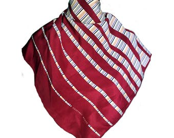 Beautiful geoffrey beene silk scarf red and white color
