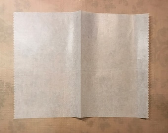 Deli Paper for Mixed Media, Art Journaling, Crafting, Gelli Plate Monoprinting  (30 folded sheets)