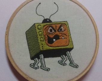 Evil Edna embroidery