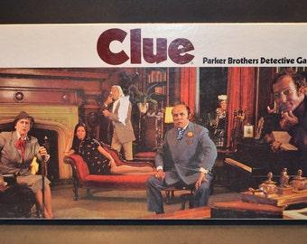 Vintage 1972 Parker Brothers Clue Board Game-No. 45