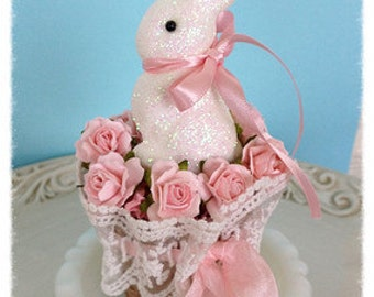 Easter Decoration Shabby Chic Easter Peat Pot Basket With Vintage Style EasteR Ornament for Easter Party