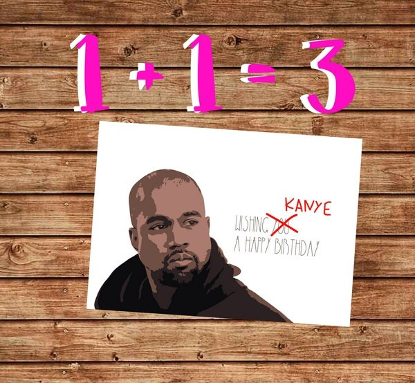 Printable Birthday Card Kanye West Birthday Card Happy