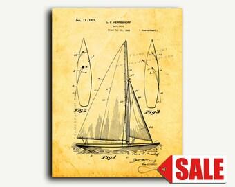 Patent Print - Sailboat Patent Wall Art Poster