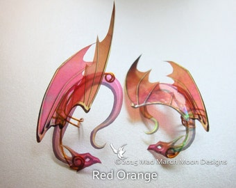 Dragon Ear Cuffs, 7 Colours Available, non pierced ear cuffs