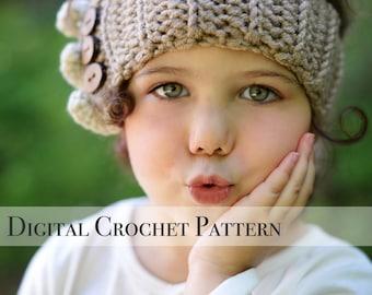 Crochet Ear Warmers Pattern / Ruffle Ear Warmers Pattern 032 / Crochet Pattern / Crochet Headband Pattern / Ear Warmers / Gift for Her