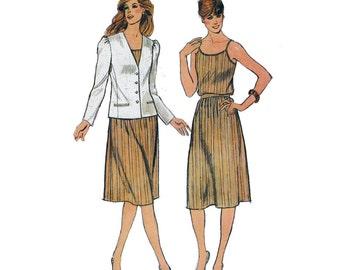 "1980's Butterick 3635 Woman's Jacket, Camisole, Skirt Size 8    Bust 31.5""/ 80cm    Vintage Sewing Pattern UNCUT"