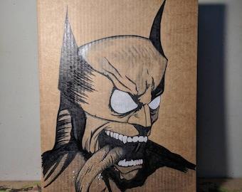 Comic Book Cardboard Art / Wall Art - Villain Within