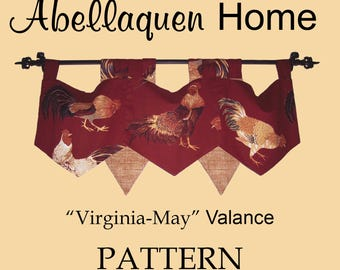 "Abellaquen Home Valance Pattern ""Virginia May"""
