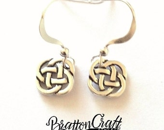 Small Silver Celtic Knot Earrings - Celtic Earrings - Irish Earrings - Scottish Earrings - Silver Celtic Jewelry