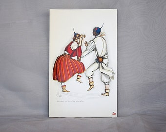 TAP Portugal Airlines - Vintage Travel - Airline Menu - Airline Memorabilia - Portugese Culture - Travel Souvenir - Folk Dancing