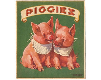 Vintage PIGGIES 8x10 Print Digital File