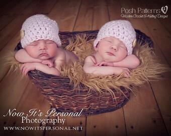 Crochet PATTERN - Easy Crochet Hat Pattern - Crochet Beanie Pattern - Crochet Baby Hat Pattern - 6 Sizes Newborn to Adult - PDF 226