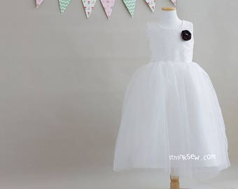 1080 Lucille Flower Girl Dress (3Y ~ 11Y) PDF Sewing Pattern