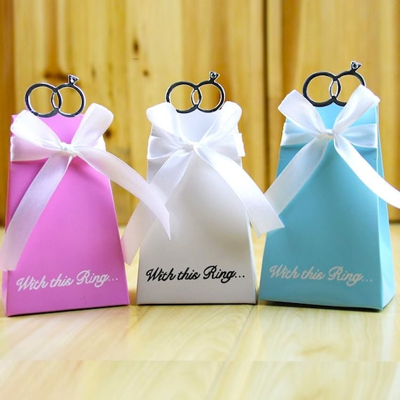 100 Engagement Favor BoxesDIY With This Ring Wedding Favor